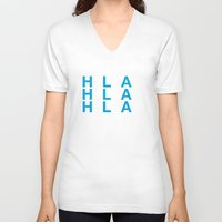 greece V-neck T-shirts featuring GREECE by eyesblau