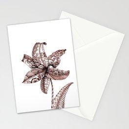 Henna Lily Stationery Cards