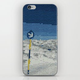 Cross Stitch Skiing iPhone Skin