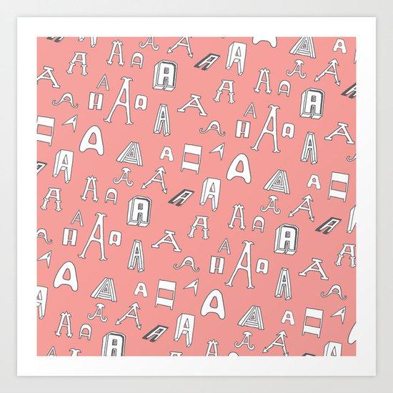 Letter Pattern, Part A Art Print