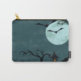 Halloween Spooky Scary House Moon Bats Tree Night Carry-All Pouch