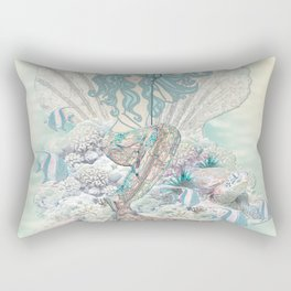 Anais Nin Mermaid [vintage inspired] Art Print Rectangular Pillow