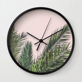 Blush palm Wall Clock