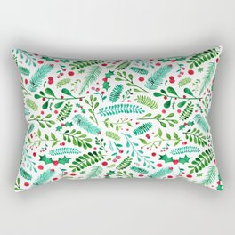 Christmas Florals Rectangular Pillow