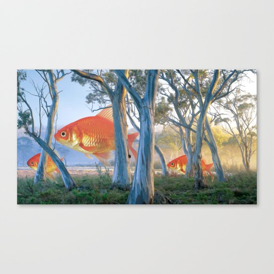 grazing goldfish Canvas Print