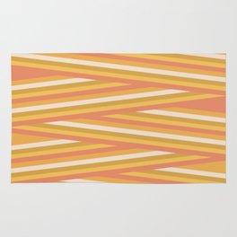 stripey sunny square Rug