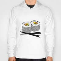 sushi Hoodies featuring Sushi by Amber Lily Fryer