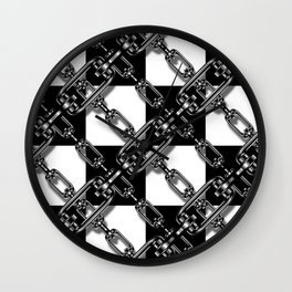 Chained Checkers Wall Clock