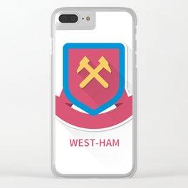 West Ham United Flat Design Clear iPhone Case