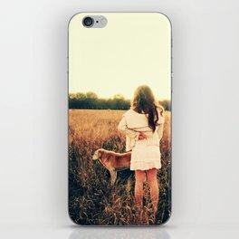 Girl and Dog Wish iPhone Skin