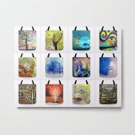 tote Bags Metal Print