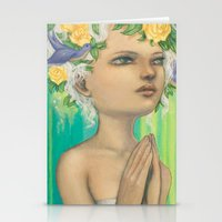 virgo Stationery Cards featuring Virgo by Artist Andrea