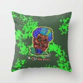 The Clown Father Throw Pillow