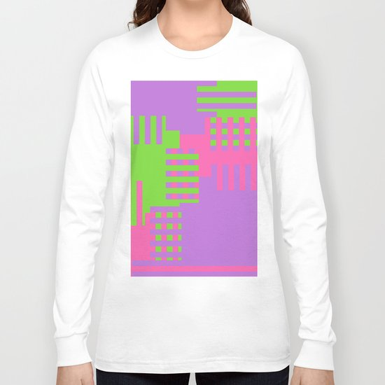 Colorful Abstract Q Long Sleeve T-shirt
