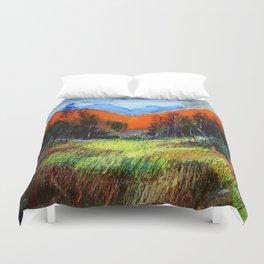 Mountain Meadow Landscape Duvet Cover