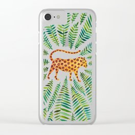 Jaguar – Green Leaves Clear iPhone Case