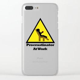 Procrastinator at Work Clear iPhone Case