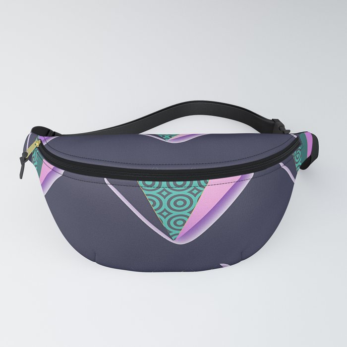 POINTED PATTERNS ON BLUE Fanny Pack