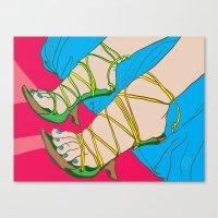 feet Canvas Prints featuring Feet by Mauro Squiz Daviddi