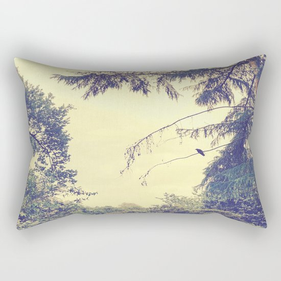Memory of a Hazy Morning Rectangular Pillow