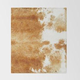 Golden Brown Cow Hide Decke