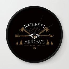 Hatchets & Arrows Wall Clock