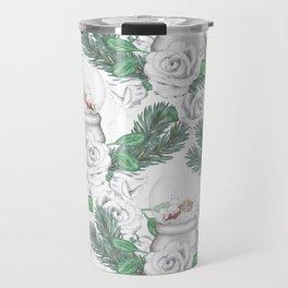 Snow globes and roses Travel Mug