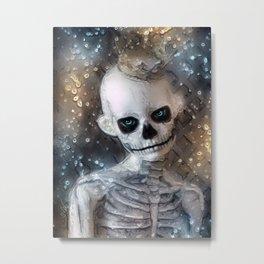 The King Skeleton Metal Print