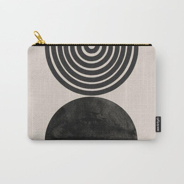 Woodblock Print, Modern Art Carry-All Pouch