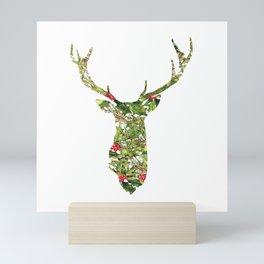 greenery deer Mini Art Print