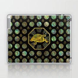 Golden Tortoise / Turtle Feng Shui Abalone Shell Laptop & iPad Skin