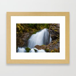 Cascada Valul Miresei, Romania Framed Art Print