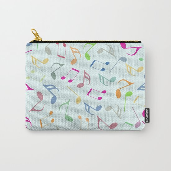 Music Colorful Notes Carry-All Pouch