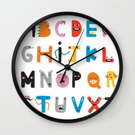 ABC The Monster Alphabet Wall Clock