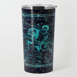 Aquarius, Constellation map, Zodiac, Sign sky, Stars, Universe, astrology, astrological Travel Mug