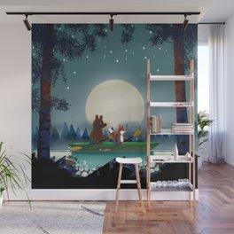 Bear and Fox Wall Mural