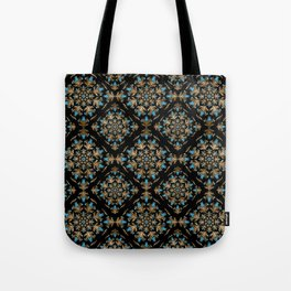 Turkish tulip - Ottoman tile pattern 14 Tote Bag