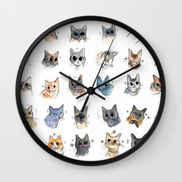 50 cat bleps! Wall Clock