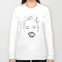 miley Long Sleeve T-shirts featuring Miley by Emily Lasbury