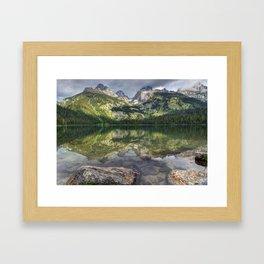 Bradley Lake Reflection - Grand Teton National Park Framed Art Print