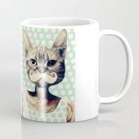 kitten Mugs featuring Kitten by zumzzet