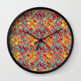 Polyp Red - Coral Reef Series 016 Wall Clock
