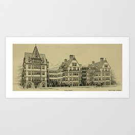 Wesley Hospital 1888 Art Print