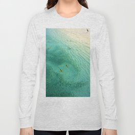 Sharks and Fish Beach (Color) Long Sleeve T-shirt