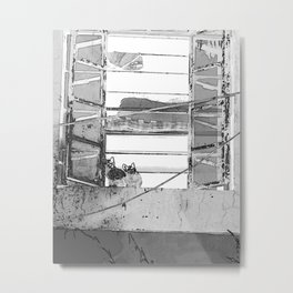 kitty-lines Metal Print
