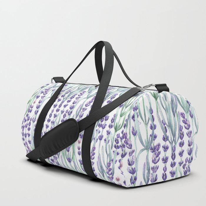 Watercolor Lavnder Duffle Bag