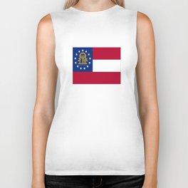 flag of the state of Georgia-Georgian,Gone with the wind,Atlanta,Colombus,Macon,Scarlett o'Hara,Usa Biker Tank