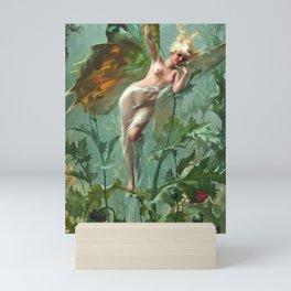"""Luis Ricardo Falero """"The Poppy Fairy (also known as La Femme Papillon)"""" Mini Art Print"""