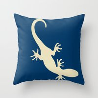 lizard Throw Pillows featuring Lizard by Abundance