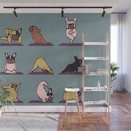 Frenchie Yoga Wall Mural